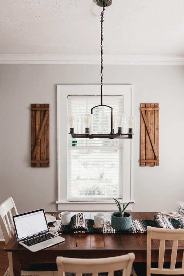 A stylish dining room area showcasing Modern Farmhouse Interior Design