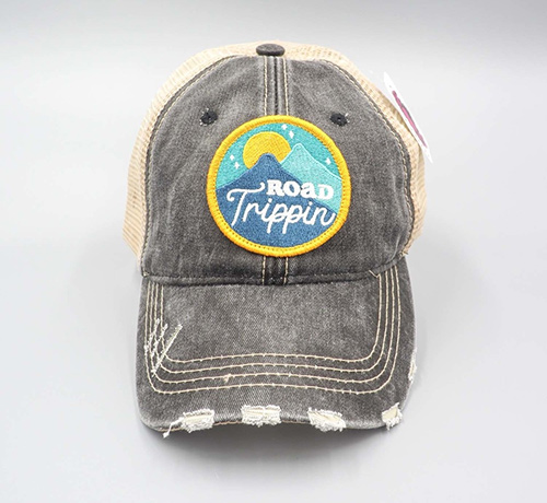 distressed road trippin' trucker hat